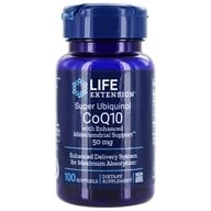 Life Extension - Super Ubiquinol CoQ10 with Mitochondrial Support 50 mg. - 100 Softgels (737870142515)