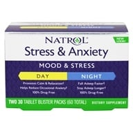 Image of Natrol - Stress Anxiety Day & Night Formula 30-Day Supply - 60 Tablets