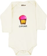Image of Kee-Ka - 100% Organic Cotton Long Sleeve BodySuit With Wearable Greetings Gift Box Cupcake 3-6 Months - CLEARANCE PRICED