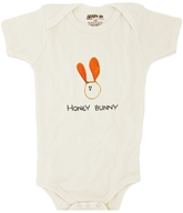 Image of Kee-Ka - 100% Organic Cotton Short Sleeve BodySuit With Wearable Greetings Gift Box Honey Bunny 3-6 Months - CLEARANCE PRICED