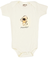 Image of Kee-Ka - 100% Organic Cotton Short Sleeve BodySuit With Wearable Greetings Gift Box Monkey 3-6 Months - CLEARANCE PRICED