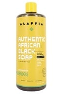 Image of Everyday Shea - Authentic African Black Soap Peppermint - 32 oz.