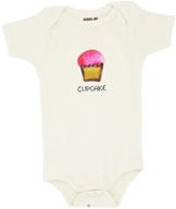 Image of Kee-Ka - 100% Organic Cotton Short Sleeve BodySuit With Wearable Greetings Gift Box Cup Cake 6-12 Months - CLEARANCE PRICED