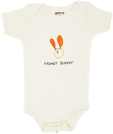 Kee-Ka - 100% Organic Cotton Short Sleeve BodySuit With Wearable Greetings Gift Box Honey Bunny 6-12 Months - CLEARANCE PRICED (875385001689)