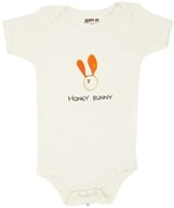 Kee-Ka - 100% Organic Cotton Short Sleeve BodySuit With Wearable Greetings Gift Box Honey Bunny 6-12 Months - CLEARANCE PRICED