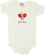 Kee-Ka - 100% Organic Cotton Short Sleeve BodySuit With Wearable Greetings Gift Box Love Bug 6-12 Months - CLEARANCE PRICED - $12