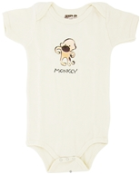 Kee-Ka - 100% Organic Cotton Short Sleeve BodySuit With Wearable Greetings Gift Box Monkey 6-12 Months - CLEARANCE PRICED