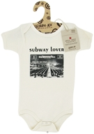 Kee-Ka - Little Apple Collection 100% Organic Short Sleeve Bodysuit Subway Lover 6-12 Months - CLEARANCE PRICED - $9.90