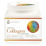 Youtheory - Anti-Aging Collagen Protein Shake Vanilla - 24 oz.