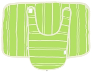 Kee-Ka - 100% Organic Cotton Bib & Burp Set Green/Vanilla Stripe 0-12 Months - CLEARANCE PRICED (890028000508)