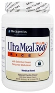 Metagenics - UltraMeal Plus 360 Rice Medical Food Natural Vanilla Flavor - 28.5 oz., from category: Professional Supplements