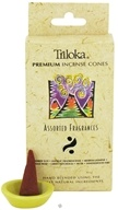 Image of Triloka - Premium Incense Cones Assorted Fragrances 1 - 14 Cone(s)
