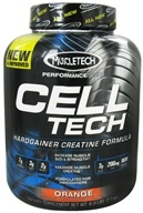 Image of Muscletech Products - Cell Tech Performance Series Hardgainer Creatine Formula Orange - 6 lbs.