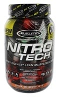 Muscletech Products - Nitro Tech Performance Series Whey Isolate Chocolate - 2 lbs. by Muscletech Products