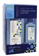 Andalou Naturals - Thinning Hair Treatment System Age Defying Kit with Argan Fruit Stem Cells - 3 Piece(s)