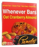 Pamela's Products - Whenever Bars Oat Cranberry Almond - 5 x 1.41 oz. Bars - $4.49