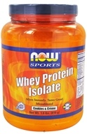 NOW Foods - Whey Protein Isolate Cookies & Creme - 1.8 lbs. CLEARANCE PRICED, from category: Sports Nutrition