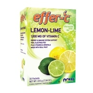 NOW Foods - Effer-C Effervescent Drink Mix Lemon-Lime - 30 Packet(s) (733739006066)