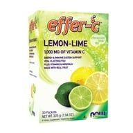 NOW Foods - Effer-C Effervescent Drink Mix Lemon-Lime - 30 Packet(s) - $7.99