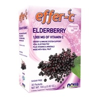 NOW Foods - Effer-C Effervescent Drink Mix Elderberry - 30 Packet(s)