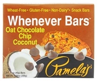 Pamela's Products - Whenever Bars Oat Chocolate Chip Coconut - 5 x 1.41 oz. Bars (093709600442)