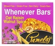 Pamela's Products - Whenever Bars Oat Raisin Walnut Spice - 5 x 1.41 oz. Bars - $4.49