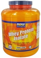 NOW Foods - Whey Protein Isolate Cookies & Creme - 5 lbs.