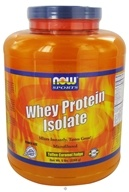 NOW Foods - Whey Protein Isolate Toffee Caramel Fudge - 5 lbs. by NOW Foods
