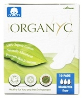 Organyc - Organic Cotton Menstrual Pads with Wings Moderate Flow - 10 Pad(s), from category: Personal Care