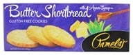 Pamela's Products - Gourmet All Natural Cookies Gluten Free Butter Shortbread - 7.25 oz. (093709100508)