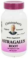 Image of Dr. Christopher's Original Formulas - Astragalus Root 400 mg. - 100 Vegetarian Capsules