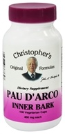Image of Dr. Christopher's Original Formulas - Pau D'Arco Inner Bark 500 mg. - 100 Vegetarian Capsules