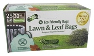 Image of Green 'N' Pack Eco Friendly Bags - Lawn & Leaf Bags with Drawstring 30 Gallon - 25 Bags