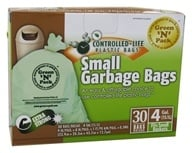 Green 'N' Pack Eco Friendly Bags - Small Garbage Bags 4 Gallon - 30 Bags
