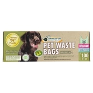 Green 'N' Pack Eco Friendly Bags - Dog Poo Bags Handle Ties Extra Giant Value Pack - 100 Bags by Green 'N' Pack Eco Friendly Bags