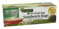 Green 'N' Pack Eco Friendly Bags - Sandwich Zipper Bags - 50 Bags (854347002902)