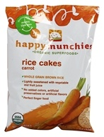 HappyBaby - Happy Munchies Organic Rice Cakes Carrot - 1.4 oz. (853826003133)