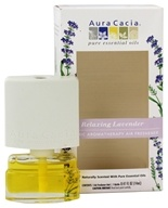 Image of Aura Cacia - Electric Aromatherapy Air Freshener Relaxing Lavender - 0.52 oz.