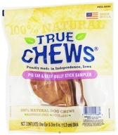 True Chews - Pig Ear & Beef Bully Stick Sampler For Dogs by True Chews