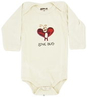 Kee-Ka - 100% Organic Cotton Long Sleeve BodySuit With Wearable Greetings Gift Box Love Bug 3-6 Months - CLEARANCE PRICED