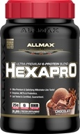 AllMax Nutrition - Hexapro Ultra Premium 6-Protein Blend Decadent Chocolate Milkshake - 3 lbs. CLEARANCE PRICED