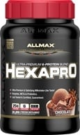 AllMax Nutrition - Hexapro Ultra Premium 6-Protein Blend Decadent Chocolate Milkshake - 3 lbs. CLEARANCE PRICED (665553202211)