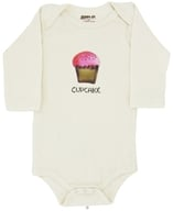 Image of Kee-Ka - 100% Organic Cotton Long Sleeve BodySuit With Wearable Greetings Gift Box Cupcake 6-12 Months - CLEARANCE PRICED