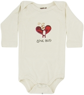 Image of Kee-Ka - 100% Organic Cotton Long Sleeve BodySuit With Wearable Greetings Gift Box Love Bug 6-12 Months
