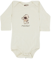 Image of Kee-Ka - 100% Organic Cotton Long Sleeve BodySuit With Wearable Greetings Gift Box Monkey 6-12 Months