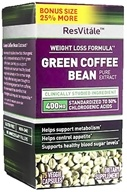 ResVitale - Green Coffee Bean Extract Bonus Size - 75 Vegetarian Capsules (094922390394)
