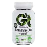 Genesis Today - Pure Green Coffee Bean Extract with Svetol - 60 Vegetarian Capsules (812711012964)