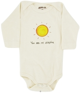 Kee-Ka - 100% Organic Cotton Long Sleeve BodySuit With Wearable Greetings Gift Box You Are My Sunshine 3-6 Months - CLEARANCE PRICED