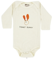 Image of Kee-Ka - 100% Organic Cotton Long Sleeve BodySuit With Wearable Greetings Gift Box Honey Bunny 3-6 Months - CLEARANCE PRICED