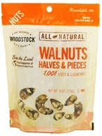 Woodstock Farms - All-Natural Walnuts Halves & Pieces - 6 oz. (042563008604)
